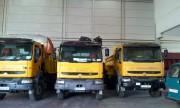 flota de camiones para movimiento de tierras
